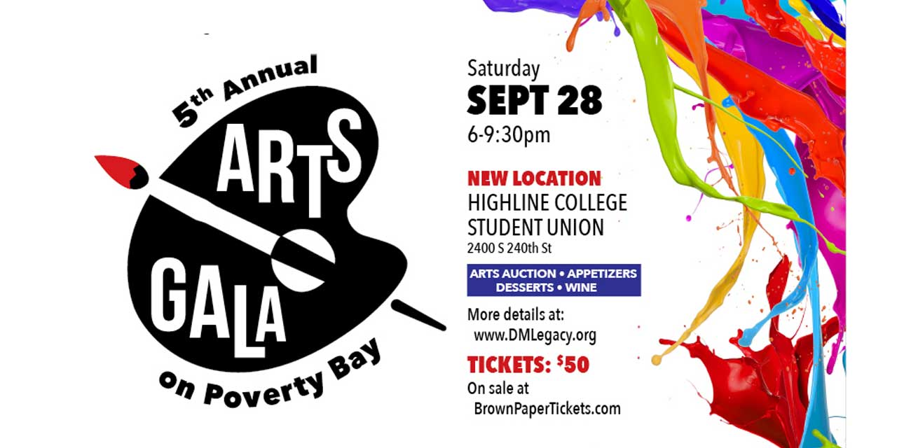 Celebrate local Art at 5th annual 'Arts Gala on Poverty Bay' on Sat., Sept. 28