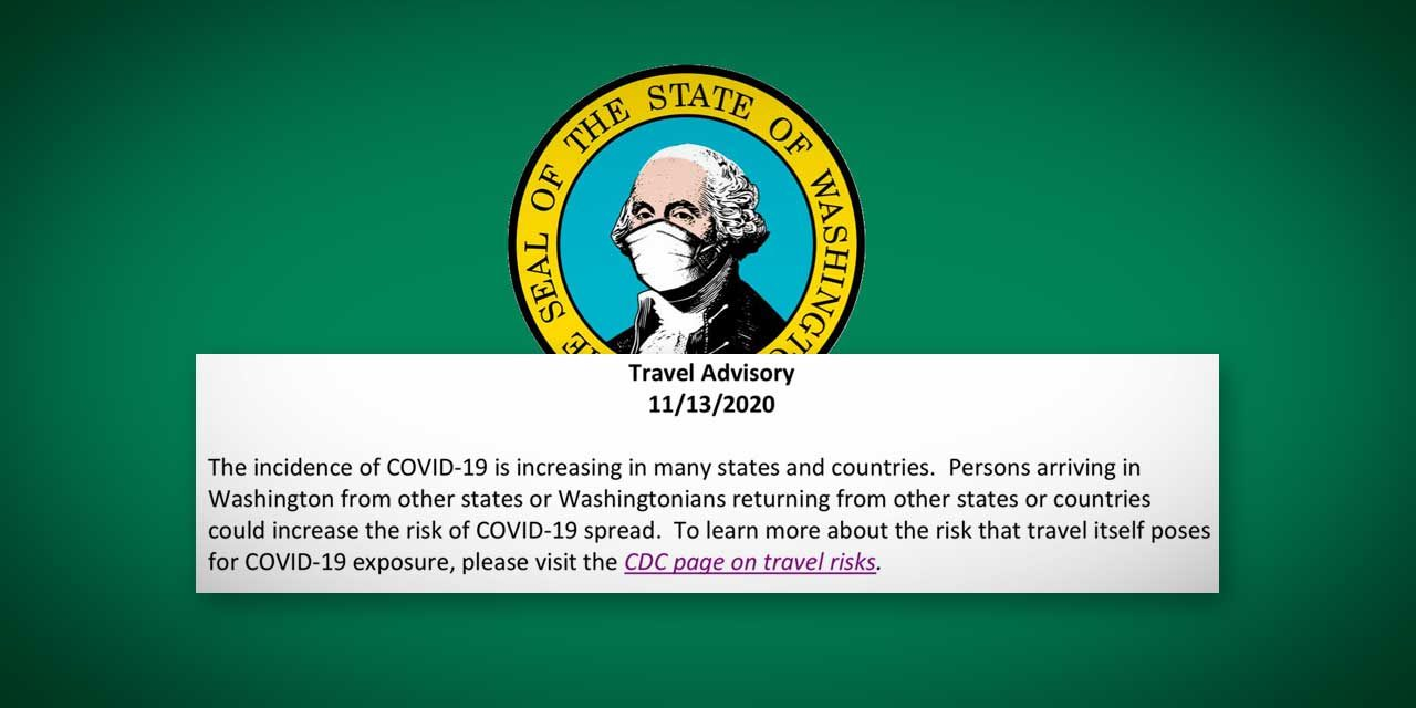 Gov. Inslee issues Travel Advisory related to recent COVID-19 increases
